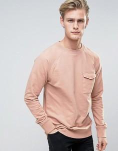 Трикотажный джемпер с карманом Another Influence - Розовый