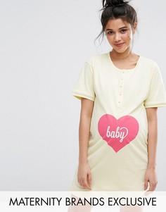 Ночная рубашка на пуговицах спереди Emma Jane Baby - Желтый