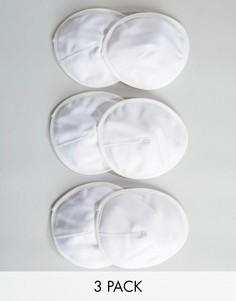 3 пары многоразовых вкладышей для кормящих мам Emma Jane - Белый