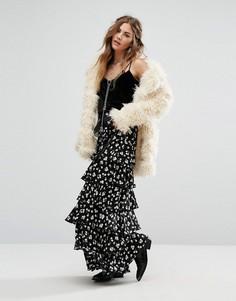 Многоярусная юбка макси Glamorous - Черный