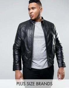 Кожаная байкерская куртка Barneys PLUS Premium - Черный Barneys Originals