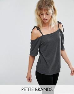 Топ с открытыми плечами Vero Moda Petite - Серый