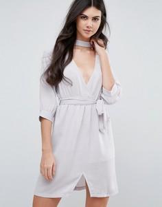Платье с поясом Love & Other Things - Серый