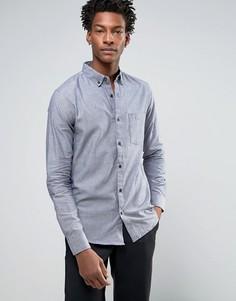 Оксфордская узкая рубашка с карманом Troy - Темно-синий