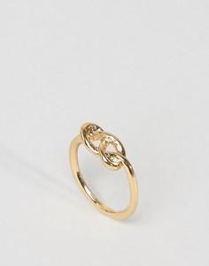 Кольцо на мизинец ASOS Infinity - Золотой