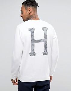 Свитшот с камуфляжным принтом сзади HUF - Белый
