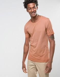 Длинная футболка Troy - Рыжий
