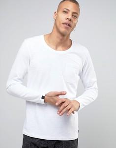 Лонгслив с карманом Produkt - Белый