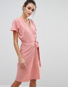 Платье миди с запахом спереди Love & Other Things - Розовый
