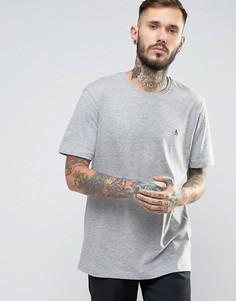 Серая меланжевая узкая футболка с логотипом Original Penguin - Серый