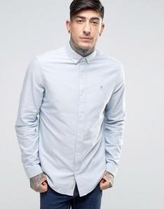Оксфордская узкая рубашка на пуговицах с логотипом Original Penguin - Синий