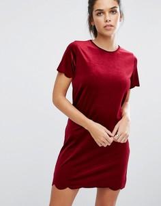 Бархатное цельнокройное платье Daisy Street - Красный