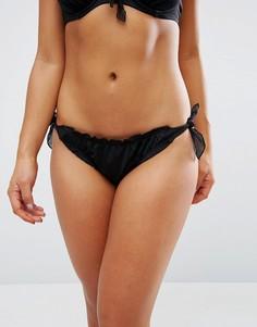 Трусики бикини с завязками по бокам Pour Moi - Черный