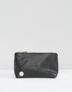 Черная косметичка с отделкой под кожу питона Mi-Pac - Черный