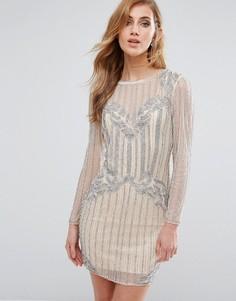 Декорированное облегающее платье New Look Premium - Розовый