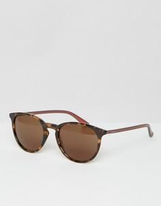 Круглые солнцезащитные очки Gucci GG 1102/S - Коричневый