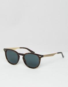 Круглые солнцезащитные очки Gucci GG 1127/S - Коричневый