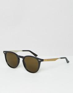 Круглые солнцезащитные очки Gucci GG 1127/S - Черный