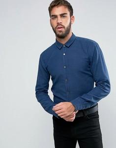 Узкая рубашка из выбеленного пике HUGO by Hugo Boss Ero 3 - Темно-синий