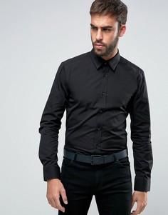 Узкая рубашка с заклепками на воротнике HUGO by Hugo Boss Elisha - Черный