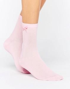 Носки с бантиками ASOS - Розовый