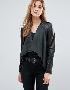 Кожаная куртка Muubaa - Серый