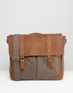 Серый кожаный портфель Forbes & Lewis Wiltshire - Серый