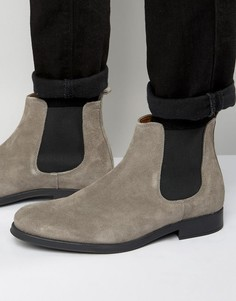 Замшевые ботинки челси Selected Homme Oliver - Серый
