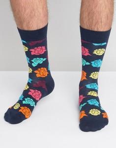Носки с розами Happy Socks - Мульти