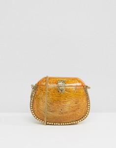 Янтарная эмалированная сумка через плечо Park Lane - Оранжевый
