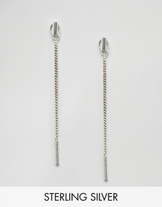 Серебряные серьги-цепочки Fashionology - Серебряный