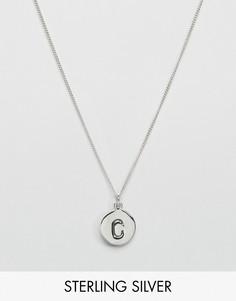 Серебряное ожерелье с инициалом C Fashionology - Серебряный