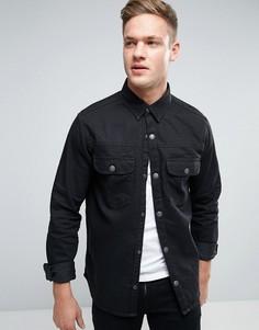 Джинсовая рубашка навыпуск Jack & Jones Intelligence - Черный