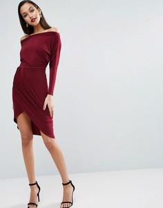 Облегающее платье миди ASOS - Красный