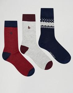 3 пары носков с традиционным узором Фэйр-Айл Jack Wills - Темно-синий