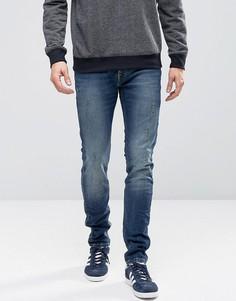 Узкие выбеленные джинсы с потертостями Jack & Jones Intelligence - Синий