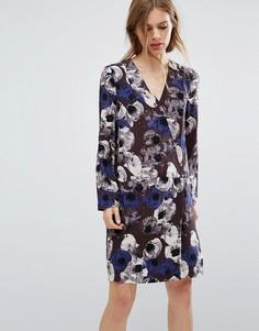 Платье с цветочным принтом Selected Femme - Мульти