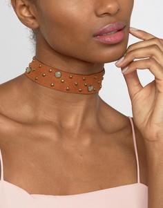 Короткое ожерелье с заклепками Ashiana - Рыжий