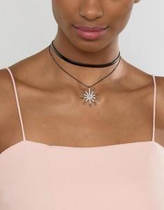 Двухрядное ожерелье Ashiana - Черный