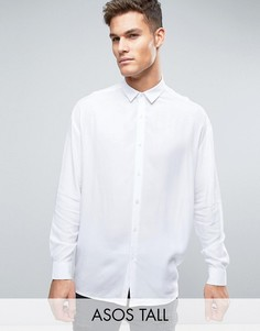 Белая oversize-рубашка из вискозы ASOS TALL - Белый