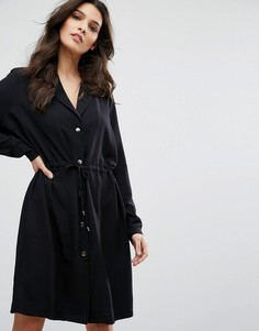 Свободное платье на пуговицах Y.A.S - Черный
