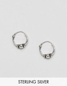 Серебряные серьги-кольца 10 мм ASOS - Серебряный