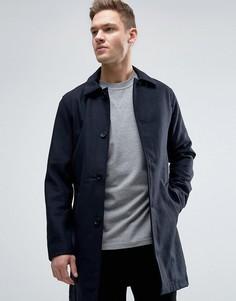 Шерстяное пальто Jack & Jones Originals - Темно-синий