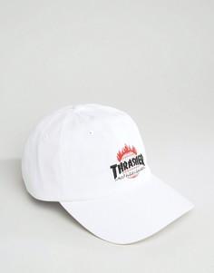 Бейсболка с вышивкой логотипа HUF x Thrasher - Белый