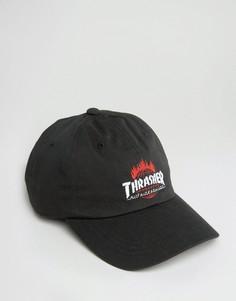 Бейсболка с вышивкой логотипа HUF x Thrasher - Черный