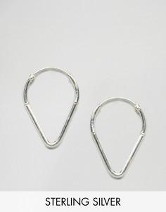 Треугольные серебряные серьги-кольца Fashionology - Серебряный