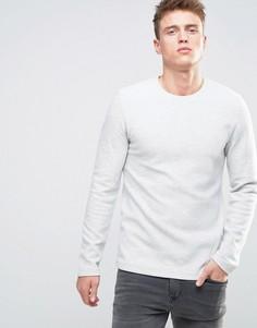 Меланжевый свитшот в рубчик Esprit - Белый