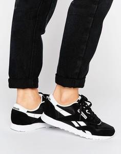 Классические черно-белые нейлоновые кроссовки Reebok - Мульти