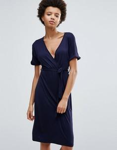 Платье миди с запахом Daisy Street - Темно-синий