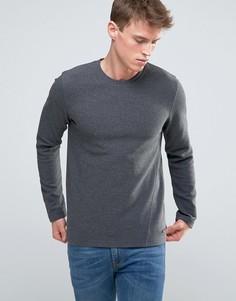Меланжевый свитшот в рубчик Esprit - Серый